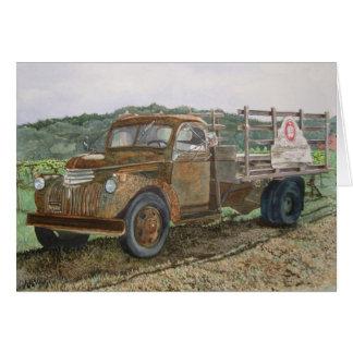 Rusty Truck Sattui Winery Napa Valley Card