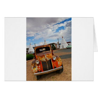 Rusty Vintage Car Card