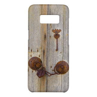Rusty vintage old iron padlock on a wooden door _- Case-Mate samsung galaxy s8 case