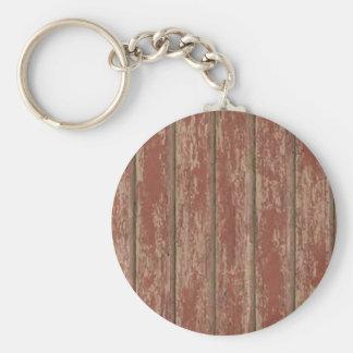 Rusty Weathered Board Basic Round Button Keychain