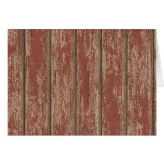 Rusty Weathered Board Card