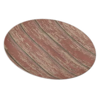 Rusty Weathered Board Dinner Plates
