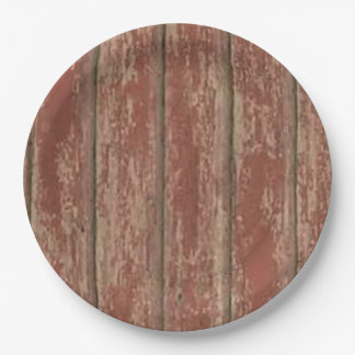 Rusty Weathered Board Paper Plate