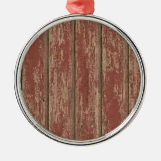 Rusty Weathered Board Silver-Colored Round Ornament