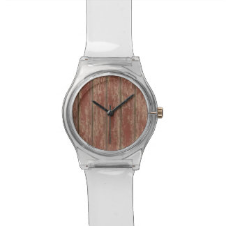 Rusty Weathered Board Wristwatches