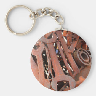 Rusty Wrenches Basic Round Button Keychain