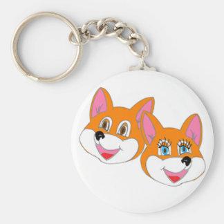 "Rustyfoxes basic ""colour customizable"" Key Chain"
