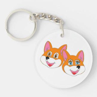 "Rustyfoxes ""colour customizable"" Key Chain"