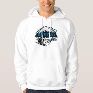 Rusutsu Hokkaido Japan blue ski logo hoodie