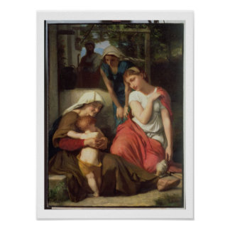 Ruth and Naomi, 1859 (oil on canvas) Poster