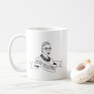 Ruth Bader Ginsburg Merry Resistmas Mug