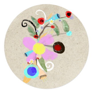 Ruth Fitta-Schulz - Abstract Floral Art 2017 Card