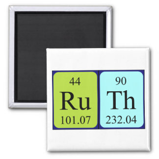Ruth periodic table name magnet