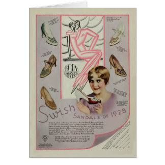 Ruth Taylor 1928 vintage shoe magazine ad card