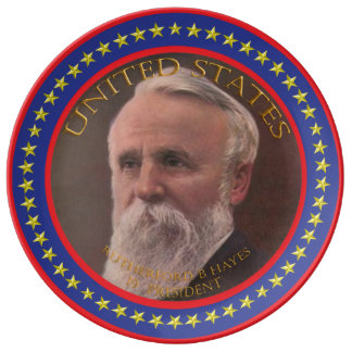rutherford b hayes 19th president porcelain plates