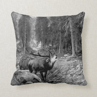 Rutting Stag Throw Pillow