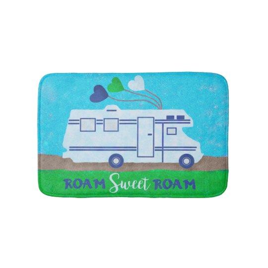 RV Motorhome Roam Sweet Roam Cute Camper Travel Bath Mat