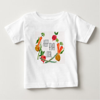 RVA Go Local Baby T Shirt Farm Fresh Design