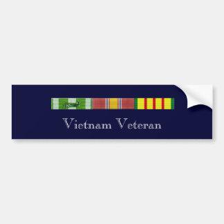 RVN Ribbons 2, Vietnam Veteran Bumper Sticker