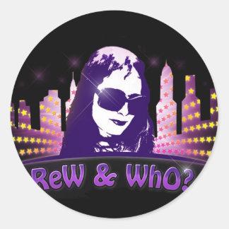 RW-stars-logo_CityScape Classic Round Sticker