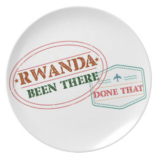 Rwanda Been There Done That Plate