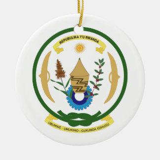 Rwanda Coat of Arms Ceramic Ornament