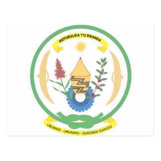 Rwanda coat of arms postcard