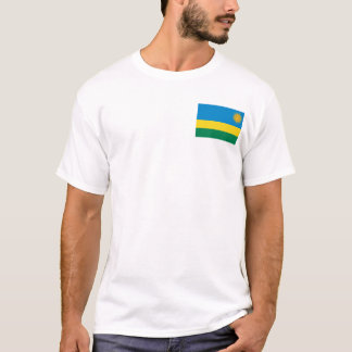 Rwanda Flag and Map T-Shirt