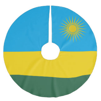 Rwanda Flag Brushed Polyester Tree Skirt