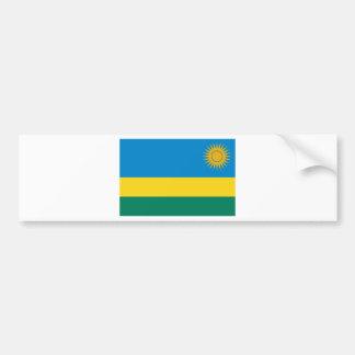 Rwanda flag bumper sticker