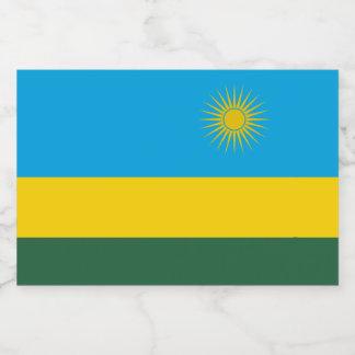 Rwanda Flag Food Label