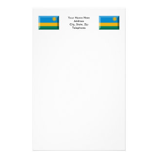 Rwanda Flag Jewel Stationery