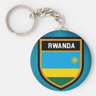 Rwanda Flag Keychain