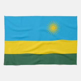 Rwanda Flag Kitchen Towel