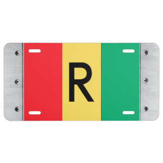 Rwanda Flag License Plate