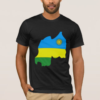 Rwanda Flag Map full size T-Shirt