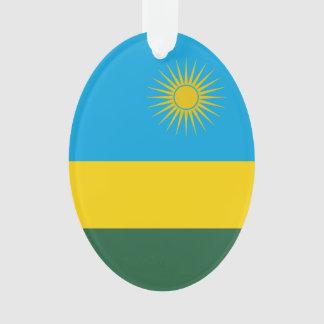Rwanda Flag Ornament