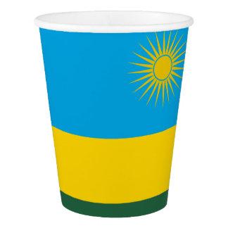 Rwanda Flag Paper Cup