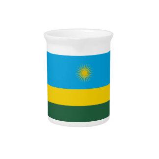 Rwanda Flag Pitcher