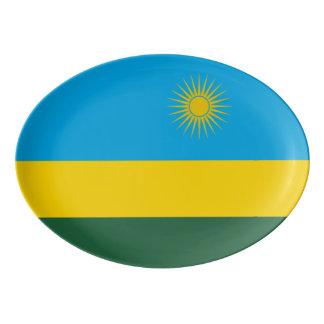 Rwanda Flag Porcelain Serving Platter
