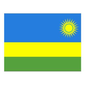 Rwanda Flag Postcard