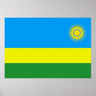 Rwanda Flag Poster