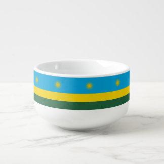 Rwanda Flag Soup Mug