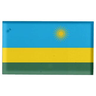 Rwanda Flag Table Card Holder