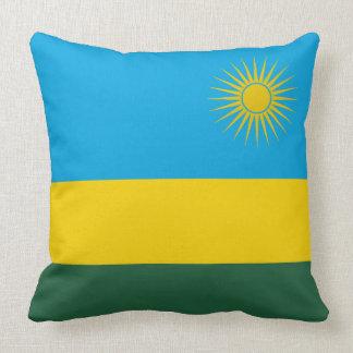 Rwanda Flag Throw Pillow