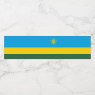 Rwanda Flag Water Bottle Label