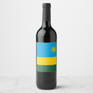 Rwanda Flag Wine Label