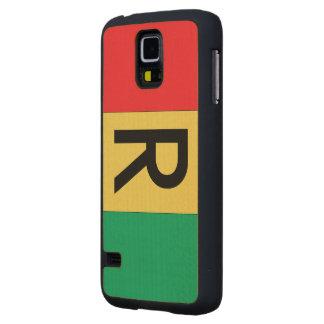 Rwanda Flag Carved® Maple Galaxy S5 Case