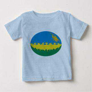 Rwanda Gnarly Flag Rwanda Baby T-Shirt