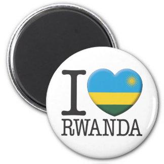 Rwanda 2 Inch Round Magnet